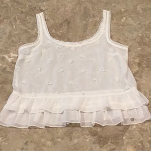 Abercrombie & Fitch white sheer tank, XS.